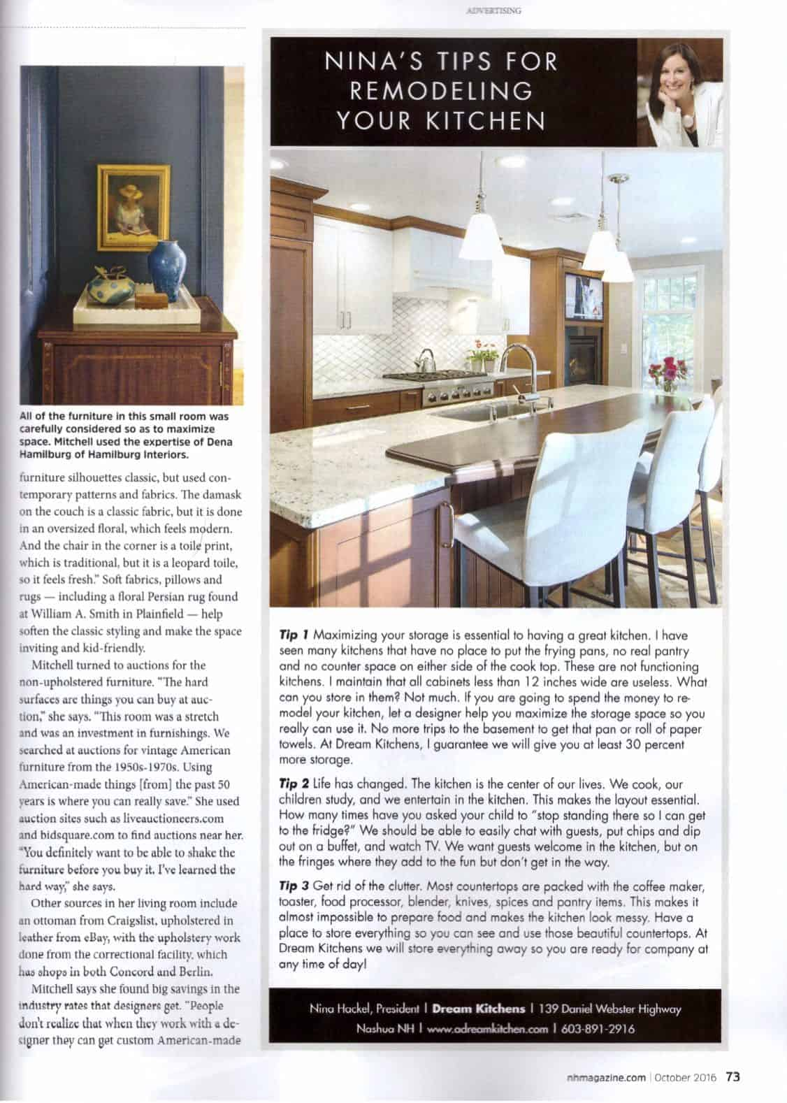 The Livable Living Room — New Hampshire Magazine, October 2016 ...
