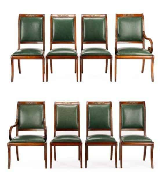 Eight Henredon Natchez Collection Dining Chairs