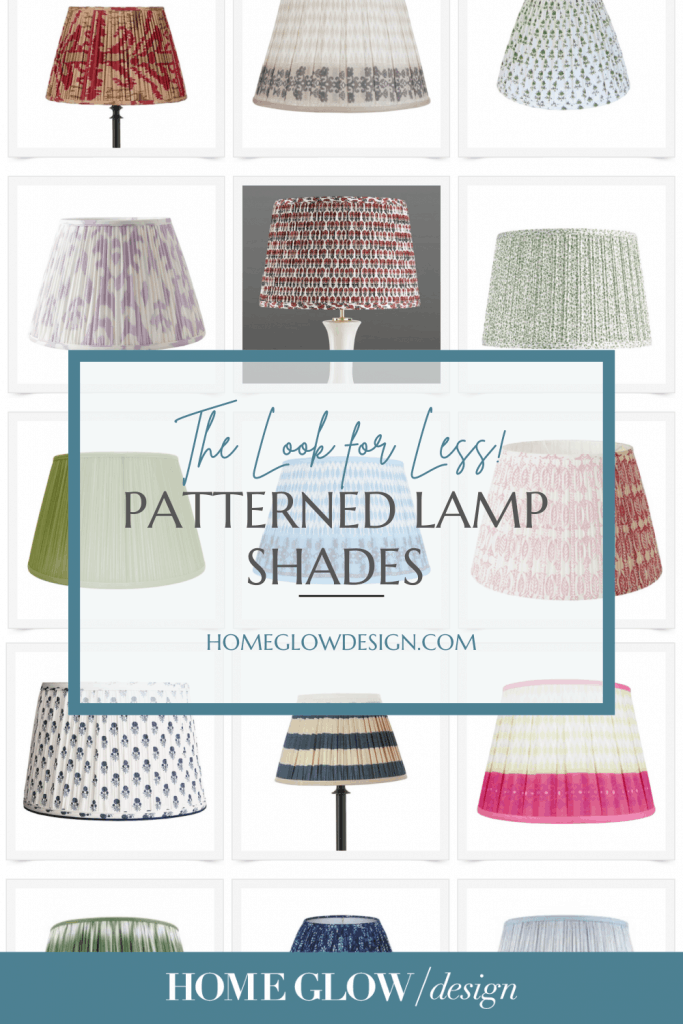 Gathered Patterned Lamp Shades - Get the Look for Less