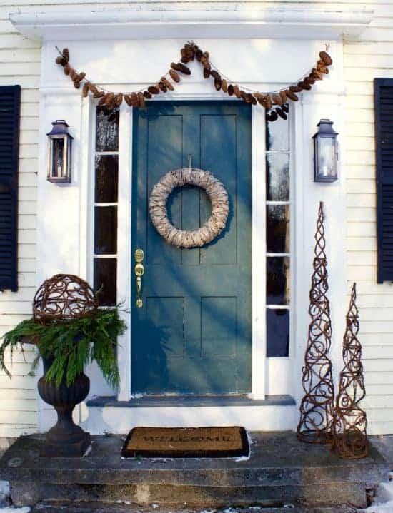 Post Christmas Winter Front Door Decor And A Plea Home Glow Design