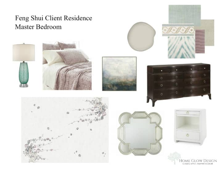Feng Shui Master Suite Mood Board
