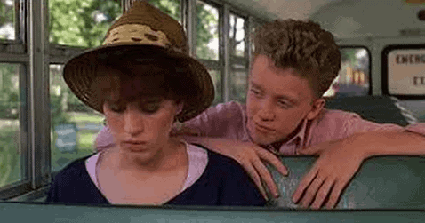 "Anthony Michael Hall in ""Sixteen Candles"""