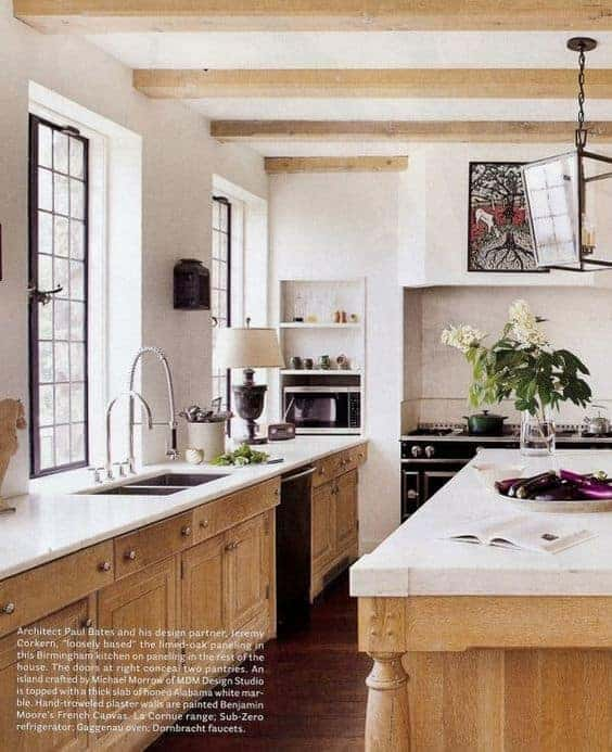 5 Fresh Looks for Natural Wood Kitchen Cabinets » Home Glow Design