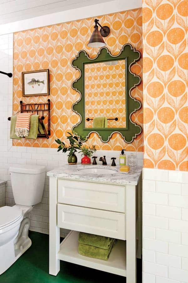 upstairs orange bath overal