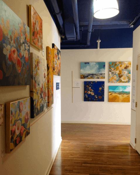 Exhibition during Open Studio Hartford, via Instagram