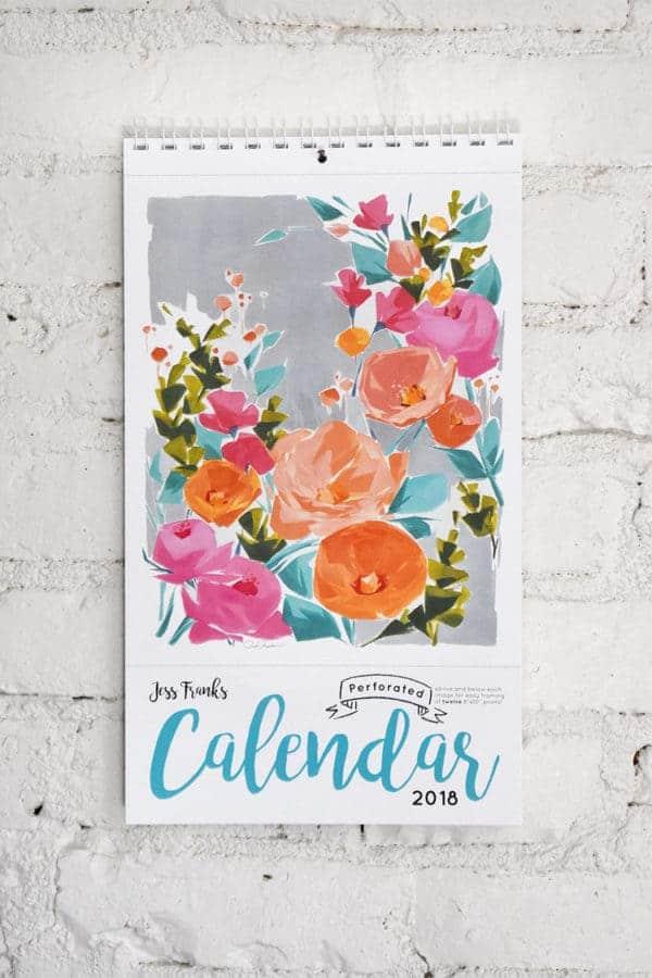2018 Calendar by Jess Franks
