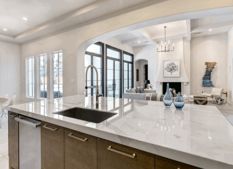 Neolith counters via Houzz