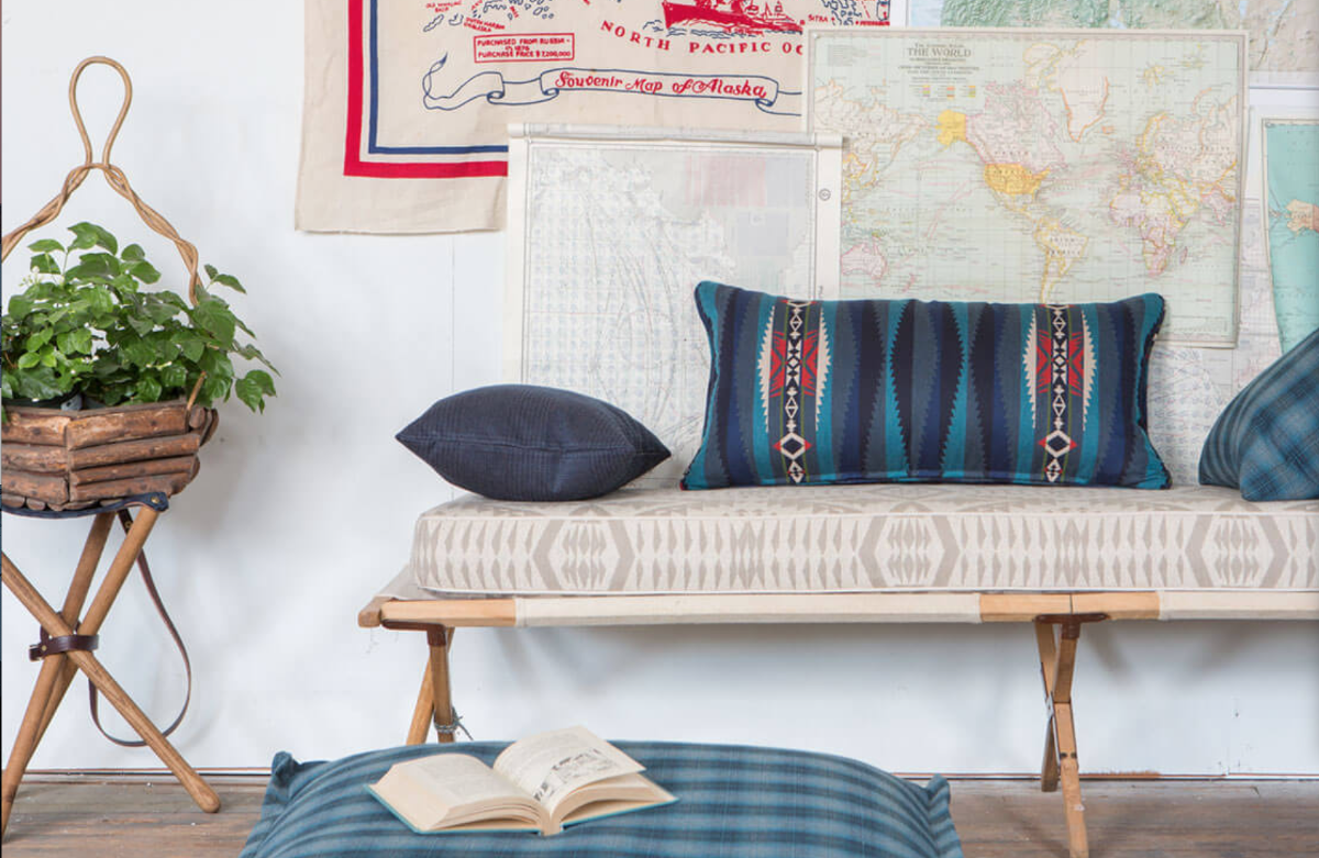 American classic pendleton sunbrella team up for for Classic american home decor