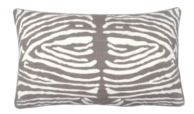 Elements by Erin Gates, Zebra Double Sided Block Print Lumbar Pillow