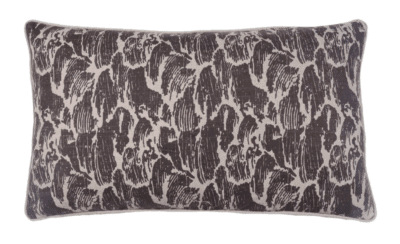Elements by Erin Gates, Stormy Waves Double Sided Block Print Lumbar Pillow