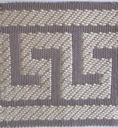 "2.65"" Gray Greek Key Trim"