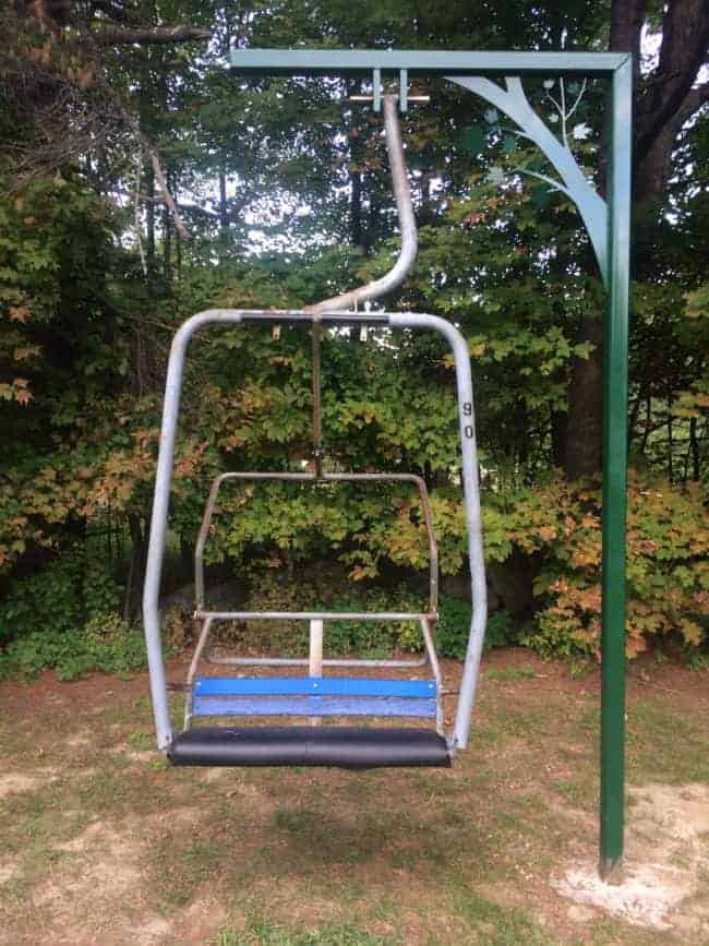The Ski Lift Chair Swing in Our Back Field