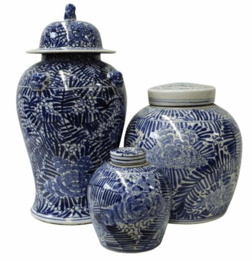 blue ginger jars set dining room pattern