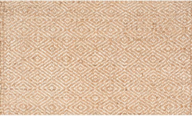 diamond jute rug blue pattern dining room