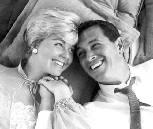"Doris Day and ROck Hudson in ""Pillow Talk,"" via The Denver Public Library"