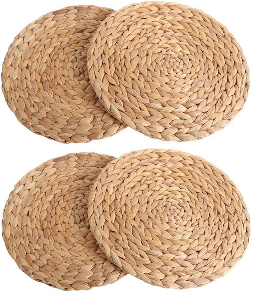 Set of Water Hyacinth Chargers