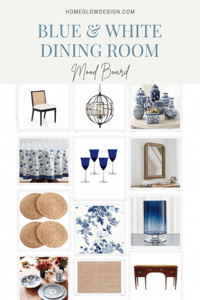 Get the Look: A Blue & White Dining Room