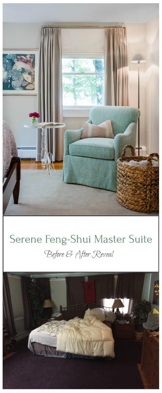 before after serene master suite