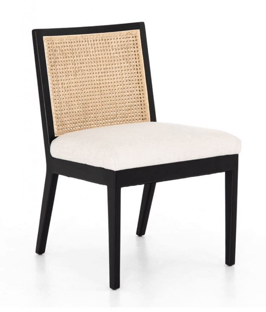 Lisbon Cane Dining Chair, Brushed Ebony