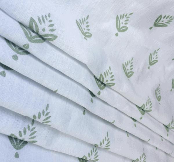 hand print look fabric