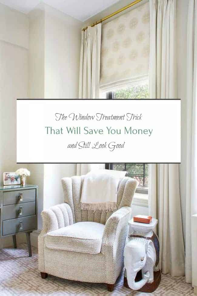 window treatment money saving trick roman shades valences