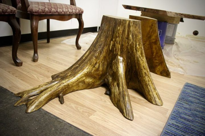 live edge root table