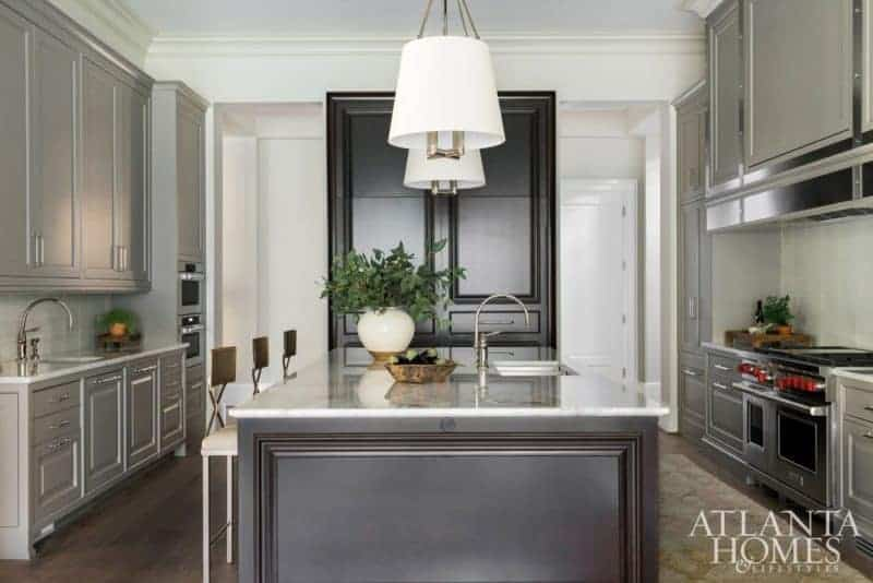 light and dark gray tailored kitchen