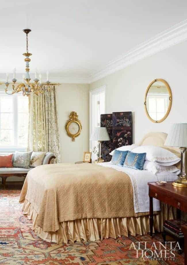 neutral bedroom antiques