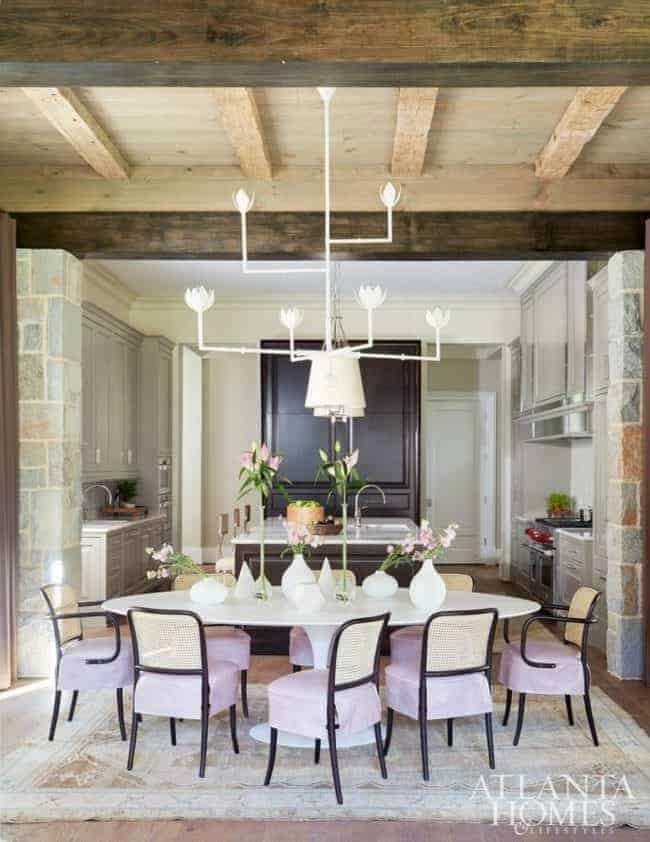 dining area thonet plaster chandelier