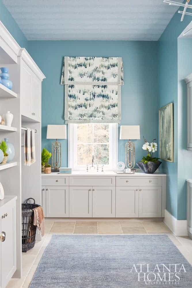 Delightful Blue Laundry Room