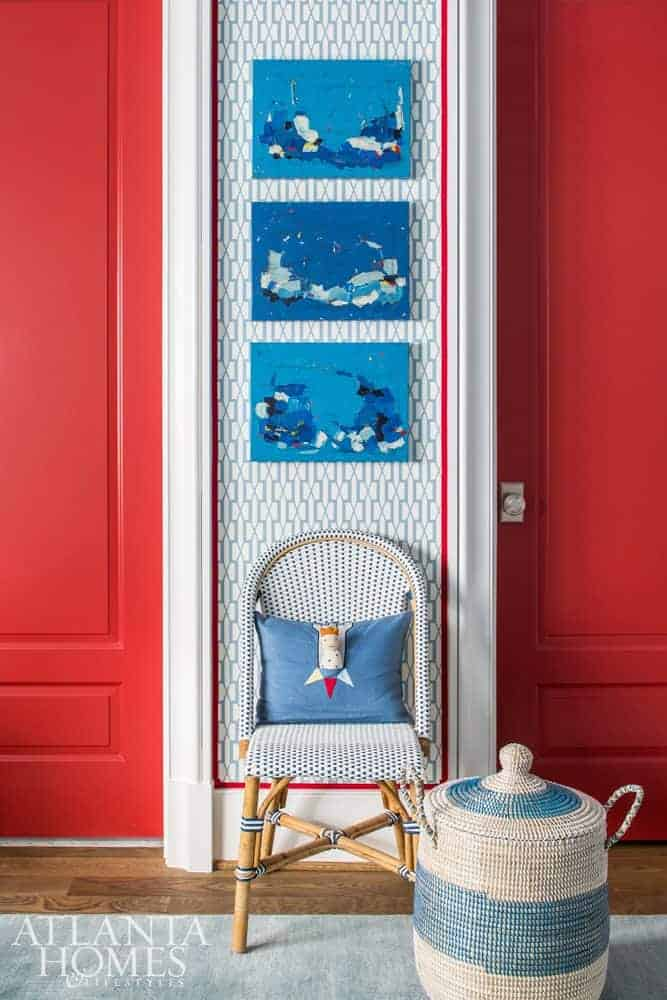 mallory mathison red white blue boy's room