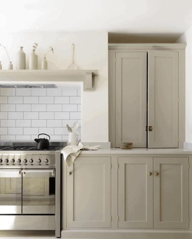 devol beige taupe kitchen cabinets