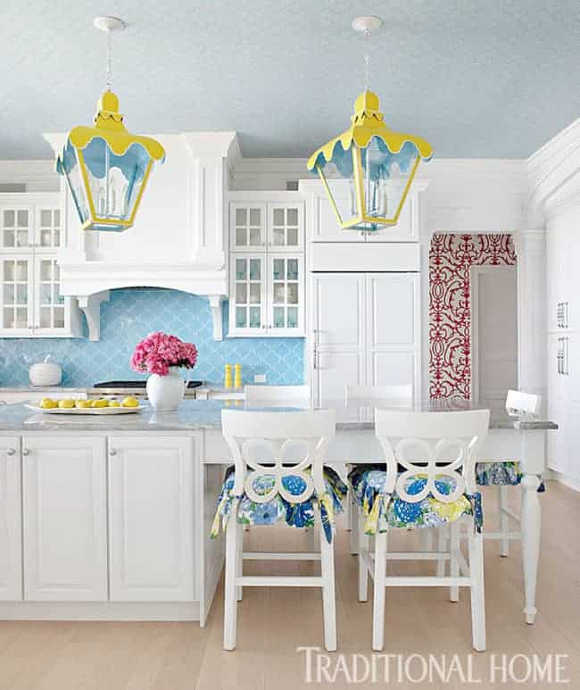 yellow pendant lights colorful island lanterns
