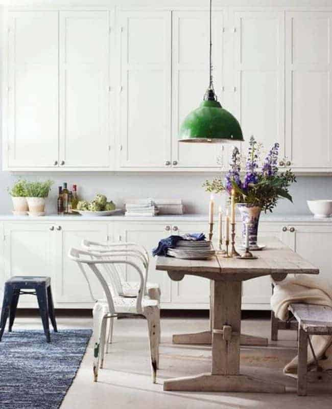 colorful kitchen island pendants green