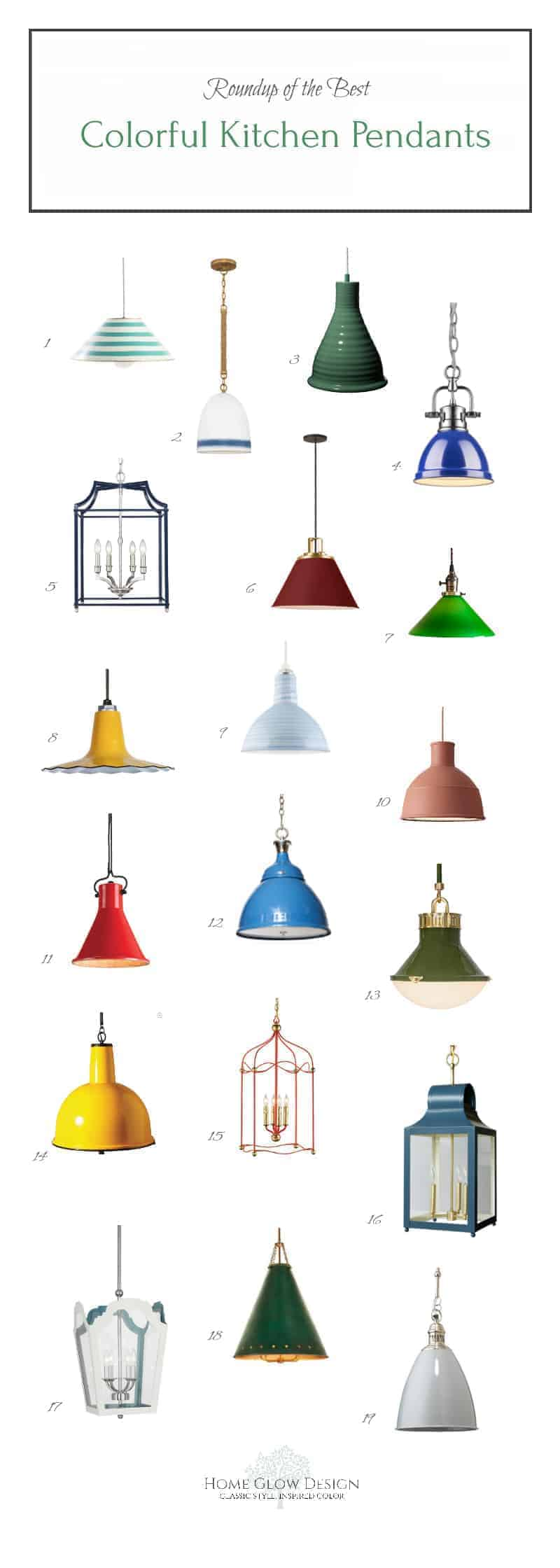 Colorful Kitchen Island Lanterns Pendants