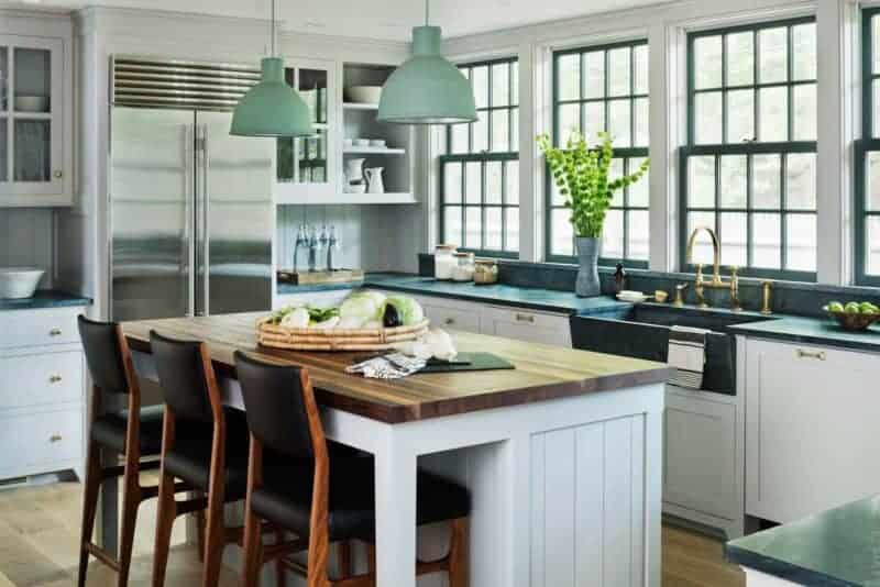 Colorful Green Kitchen Island Pendants