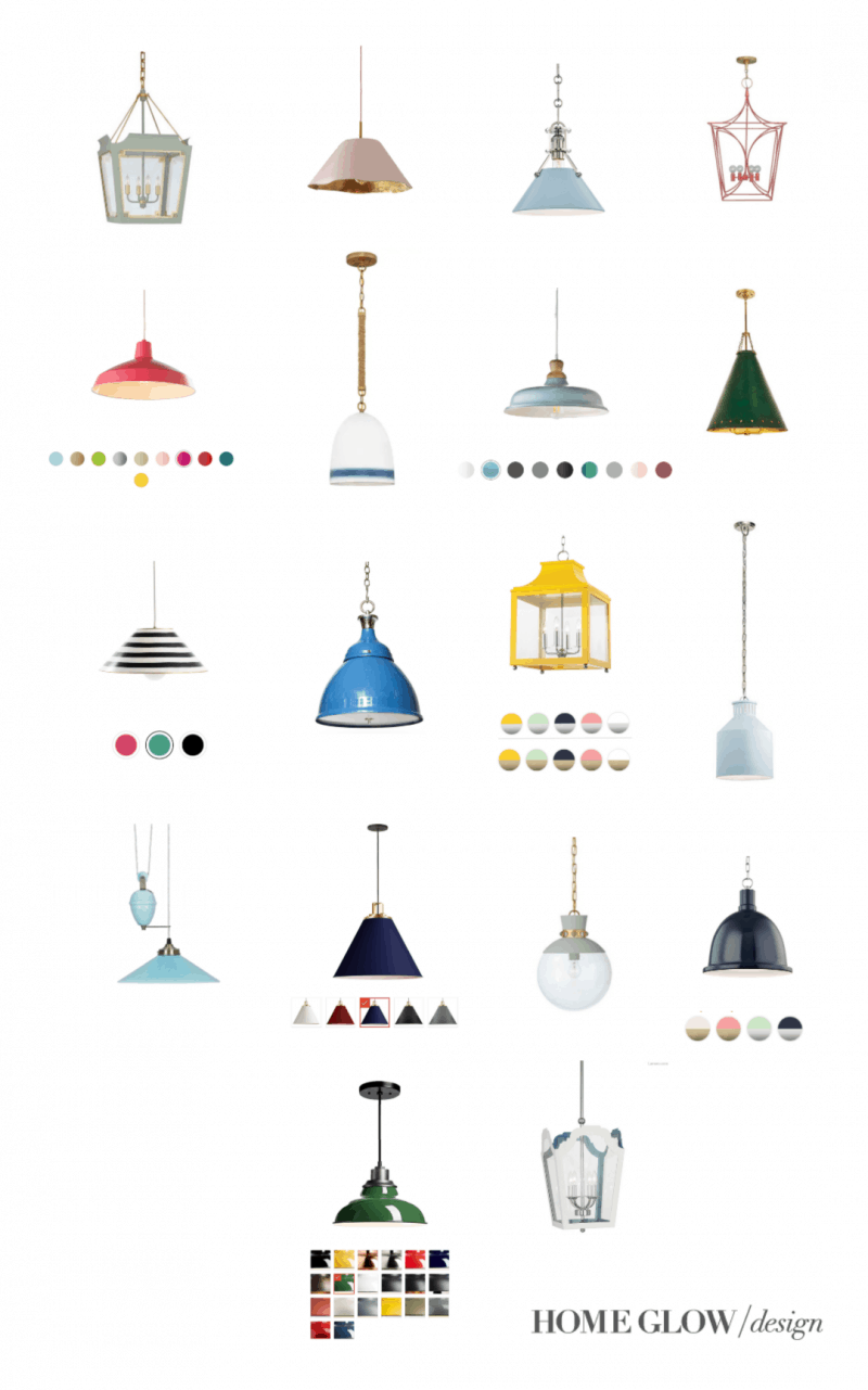 18 Colorful Pendant Lights