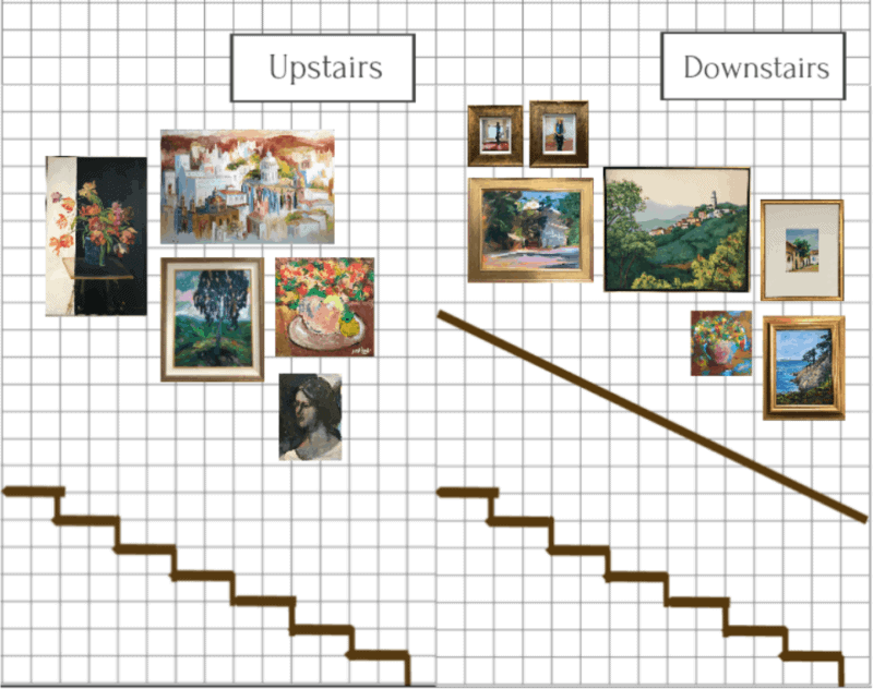 Easy, Low-Tech Way to Master Your Gallery Wall (Without Using A Single Nail)