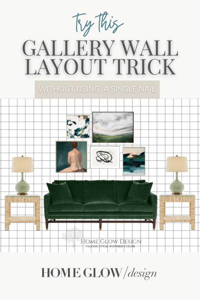 try this gallery wall layout trick