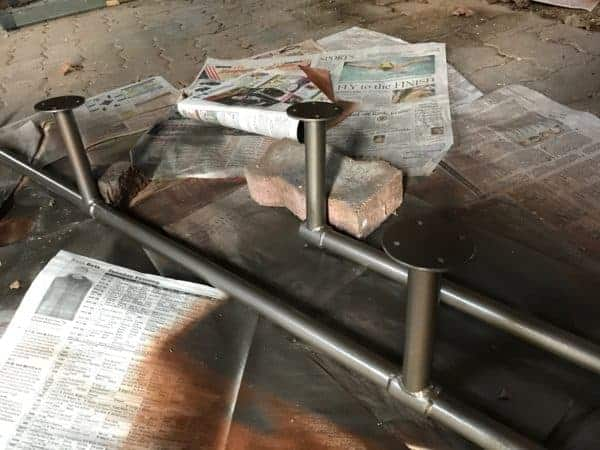 loft railing steel bronze