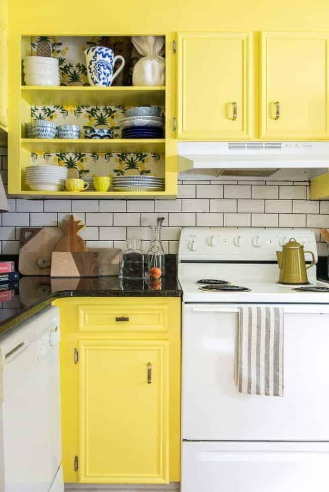 happy yellow kitchen