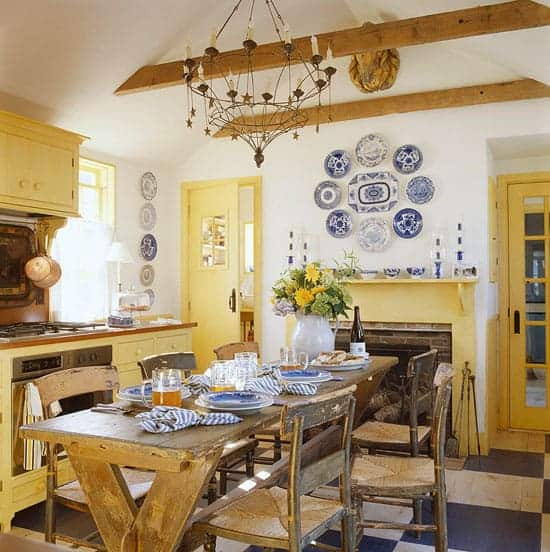 happiest yellow kitchen