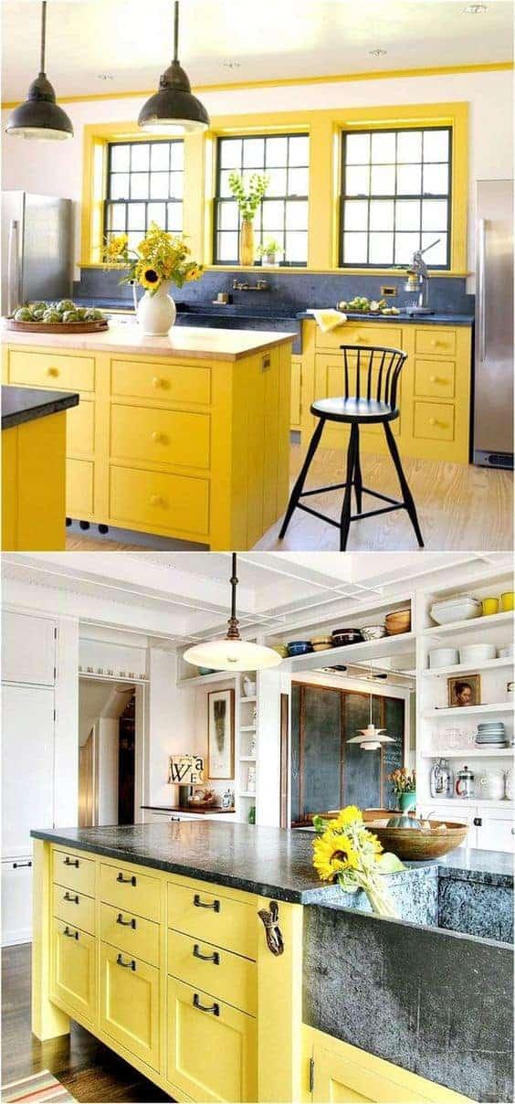 happy yellow kitchens