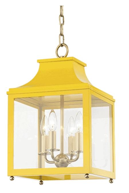 yellow lantern pendant
