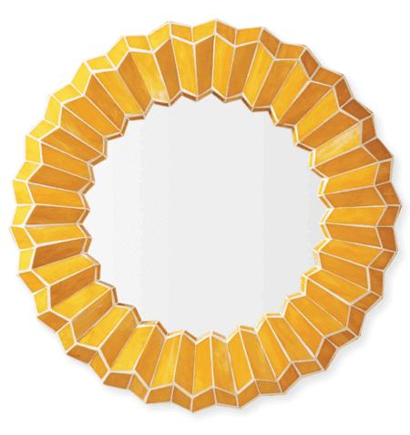 yellow mosaic mirror