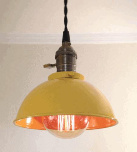 retro yellow pendant