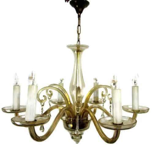 amber murano chandelier