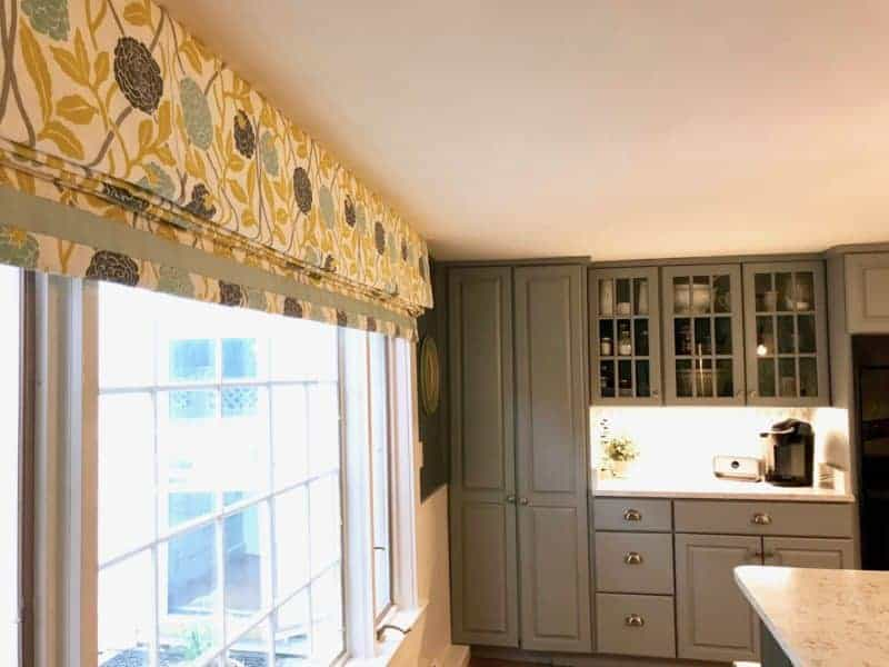 Custom Window Treatments Put Icing on the Cake of This Client's DIY Kitchen