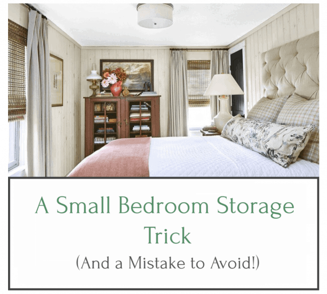 A Small Bedroom Storage Trick (and a Mistake to Avoid!)