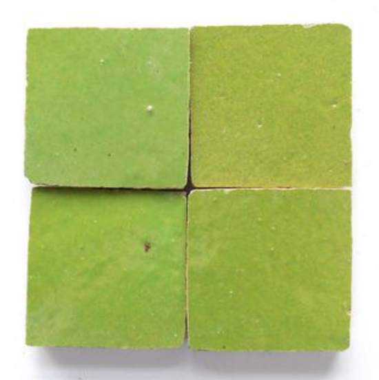 green zellige tile